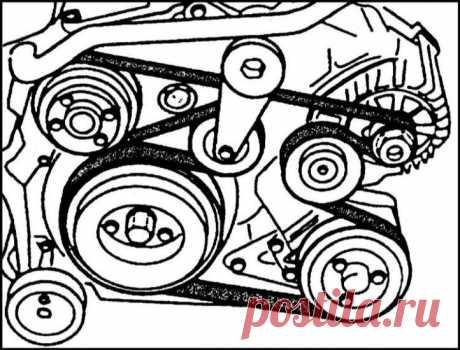 снятие и установка ремня генератора БМВ 525 Е39 2007г - Поиск в Google