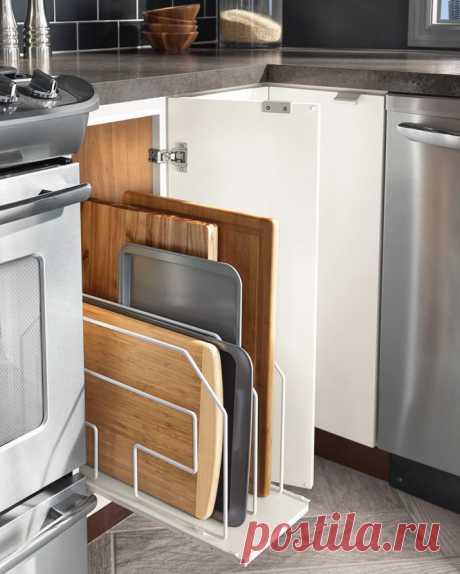 Всему свое место: 20 блестящих идей организации хранения на кухне
