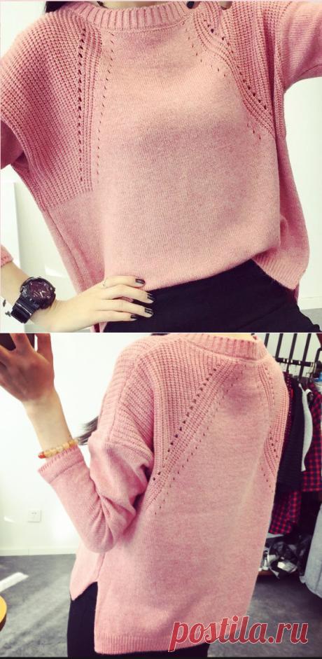 Узор Хипстер-модник-пуловер спицами.