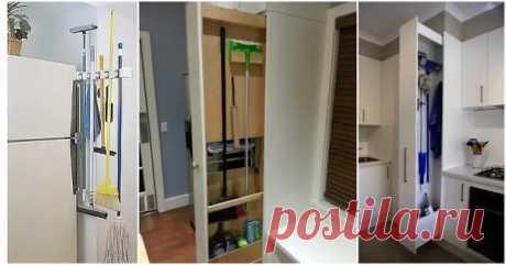 Экономьте место в маленькой квартире: полезные идеи хранения хозинвентаря для уборки - Квартира, дом, дача - медиаплатформа МирТесен