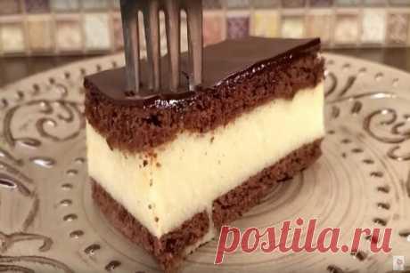 Торт без выпечки «Птичье молоко» за 15 минут