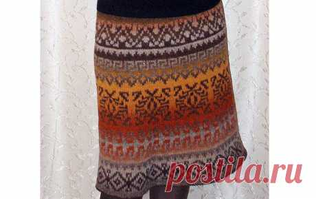 Особенности вязания юбки Особенности вязания спицами жаккардовой юбкипо типу «груши» из пряжи «Кауни». Описание принципа прибавок из стандартного варианта вязания юбки.…
