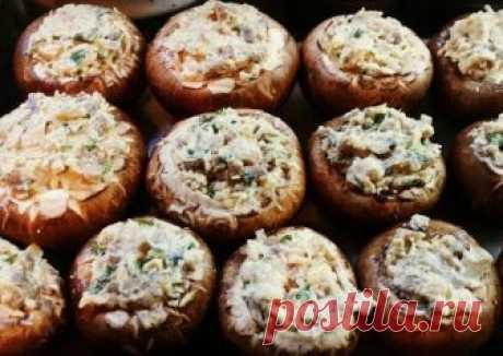 Фаршированые шампиньоны запеченые в духовке Автор рецепта Оксана - Cookpad
