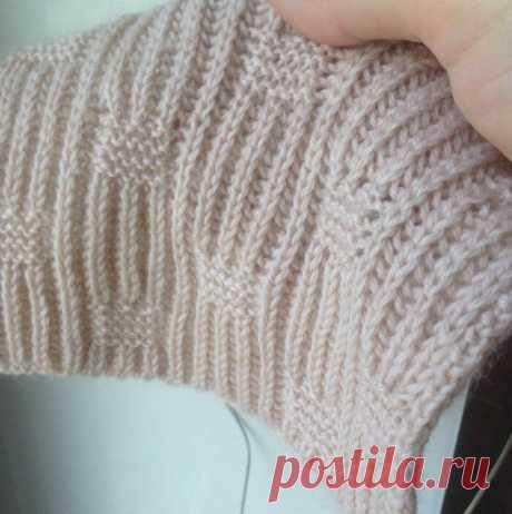 Патентная резинка + платочная вязка. | Спицы-мастерицы | Яндекс Дзен