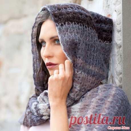 Женский шарф с капюшоном. - Вязание - Страна Мам