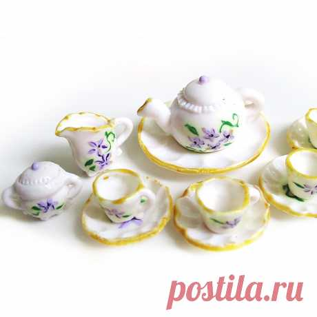 Как сделать посуду для кукол из полимерной глины