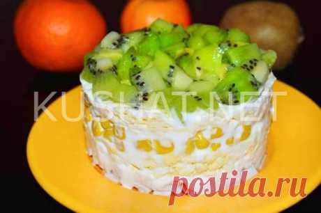 Салат с киви и крабовыми палочками. Пошаговый рецепт с фото • Кушать нет