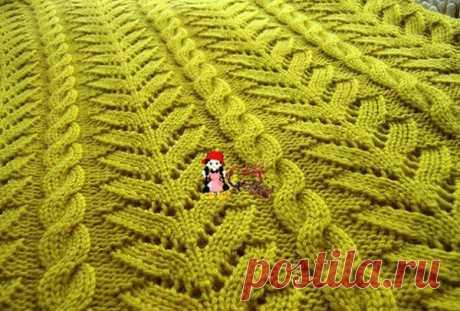 Рельефный узор спицами для пуловера. Рельефный узор спицами со схемами   Домоводство для всей семьи