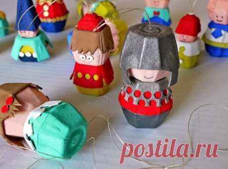Поделки из коробок для яиц с детьми — Поделки с детьми