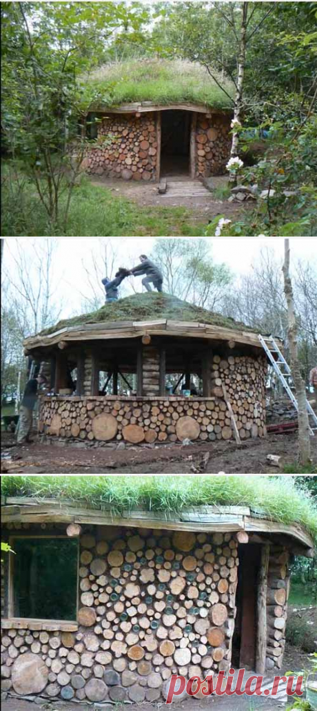 Как недорого построить дачный домик: используем дрова и саман