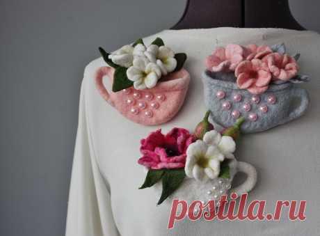 b6469ff3b66a3 Красивые теплые женские валяные варежки Сухоцветы белые – купить в и ...
