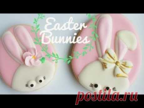 How To Decorate Cute Easter Bunny Cookies
