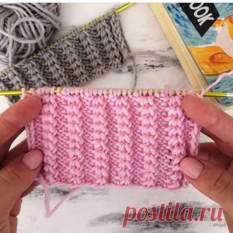 Очень простым, но очень красивым и эффектным рельефный узор (Вязание спицами) – Журнал Вдохновение Рукодельницы