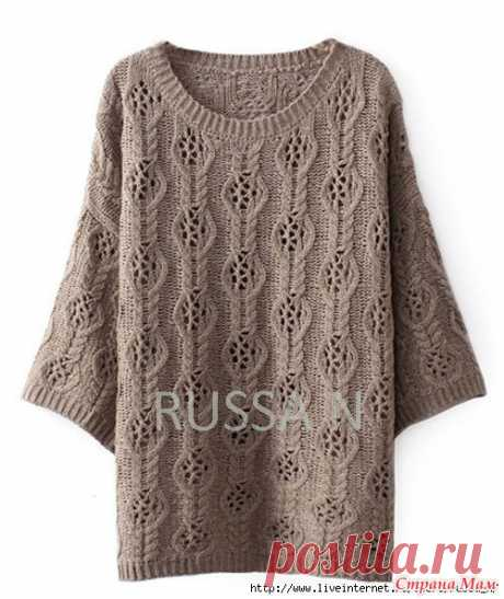 Openwork tunic - Knitting - the Country of Mothers