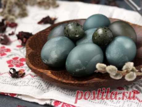 Покраска яиц на Пасху чаем каркаде — рецепт с фото пошагово