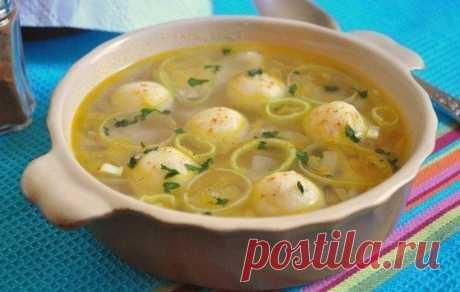 Куриный суп с манными клёцками - Кулинарный рецепт - Повар в доме