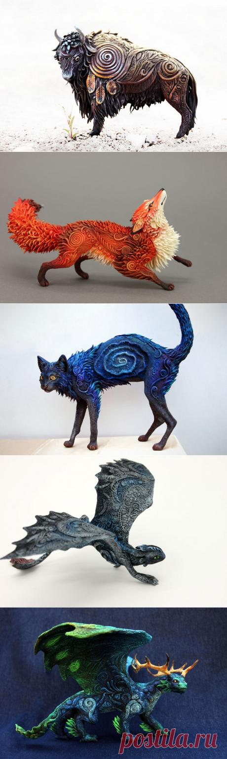 Необычные скульптуры из бархатного пластика — Делаем руками
