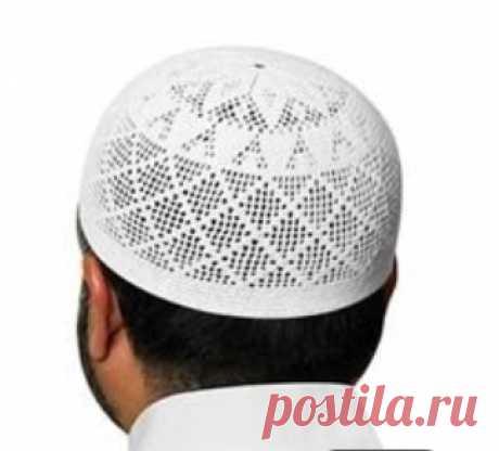 Мужская шапочка для молитвы вязанная крючком