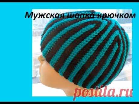 Men's cap wedges kryuchkom.men's hats Crochet (#71 Cap)