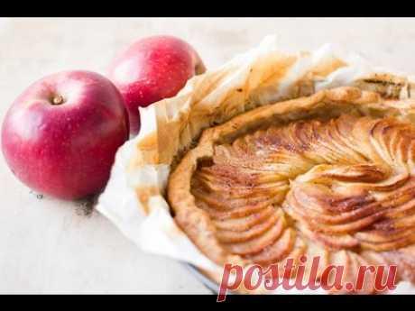 Яблочный Тарт с карамельным кремом и корицей рецепт