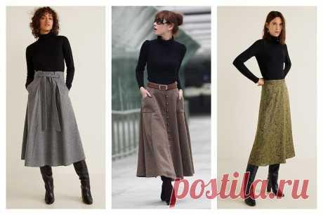 С чем носить длинную юбку зимой: 7 универсальных вариантов - Икона стиля
