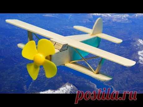 Как сделать САМОЛЕТ АН-2 (Кукурузник) своими руками. DC Motor DIY. Деревянные игрушки самолет - YouTube