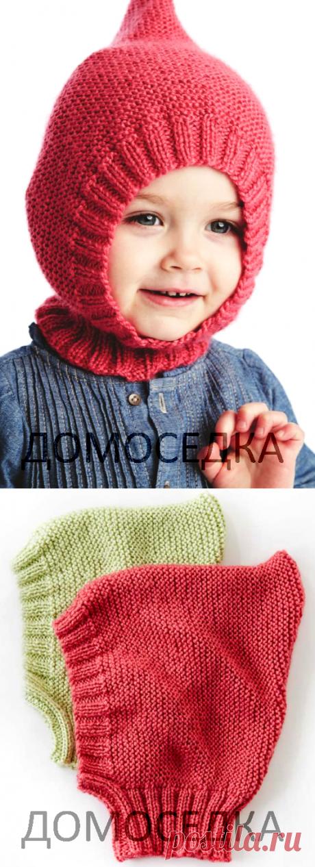 Детский вязаный шлем | ДОМОСЕДКА