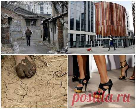 Социальные контрасты Китая бедные и богатые : НОВОСТИ В ФОТОГРАФИЯХ