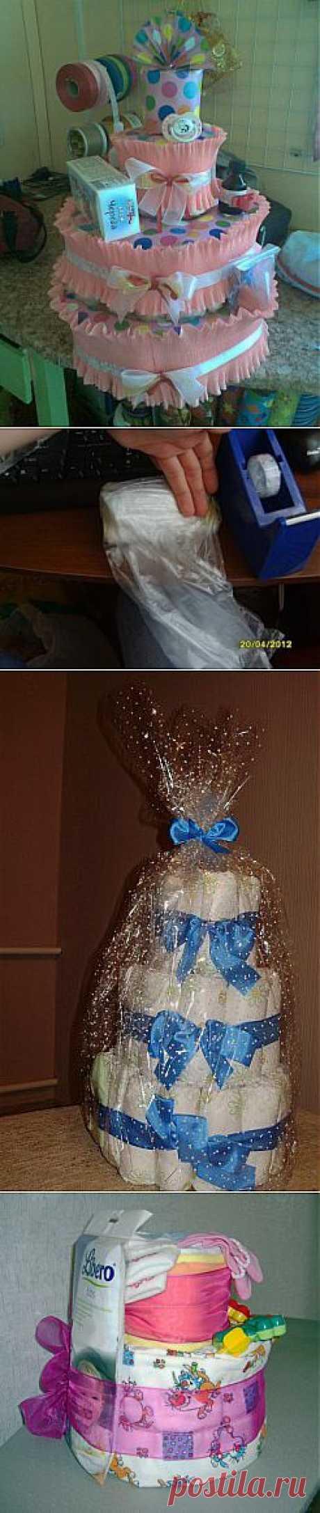 Торты из памперсов для новорожденных » Подарки для детей » Подарки и праздники » Форум - подарки своими руками на все случаи жизни