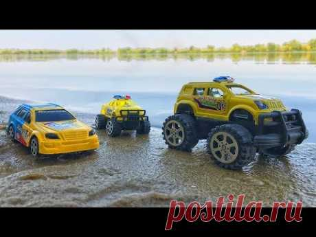 Toy Cars Going Underwater and Crossing the River. Video for children - YouTube