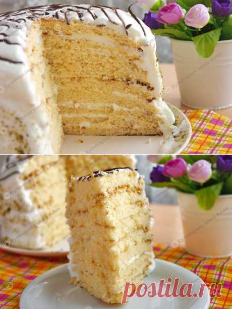 Торт «Milchmädchen» («Молочная девочка»). Автор: Алия