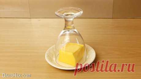 Как размягчить масло всего за пару минут