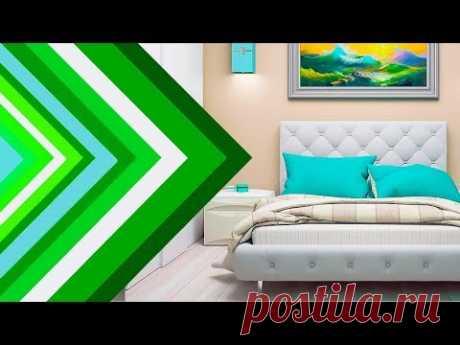 💗 Однокомнатная квартира – гостиная и спальня в одной комнате   Зонирование и планировка.