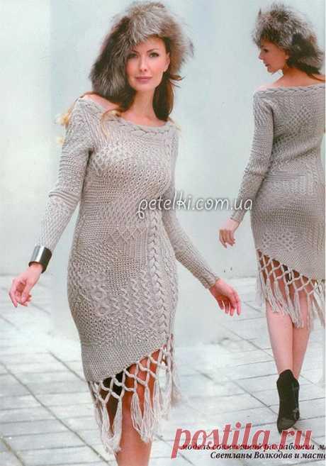 Невероятно красивое и сложное платье из 21 узора
