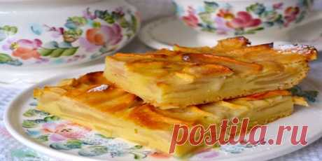 Tasty apple pie from France! This pie is many times more tasty than a habitual charlotte, and prepares much more simply. prepare, you will not regret.