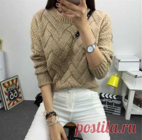 Классный свитер спицами