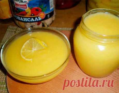 Быстрый лимонный крем