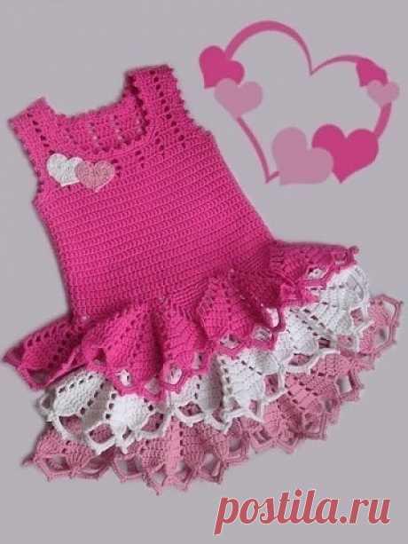 Чудесные платья для девочек из категории Интересные идеи – Вязаные идеи, идеи для вязания