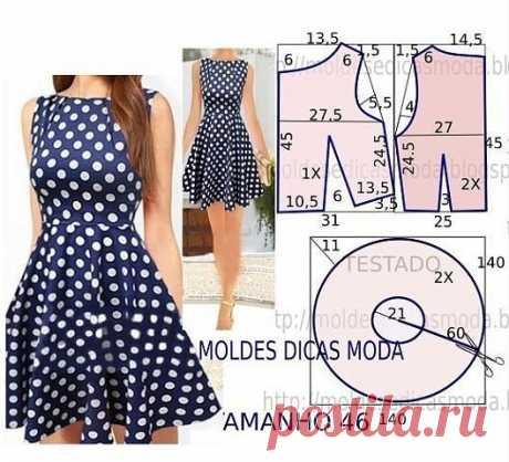 Платье выкройка размер 52