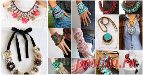 100 + идей вязаной бижутерии, которая украсит любую девушку ...