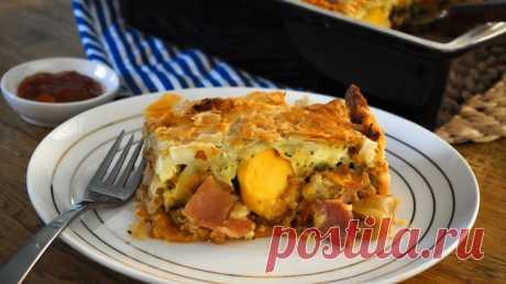 Рецепт пирога с целым яйцом и щавелем | О вкусной еде