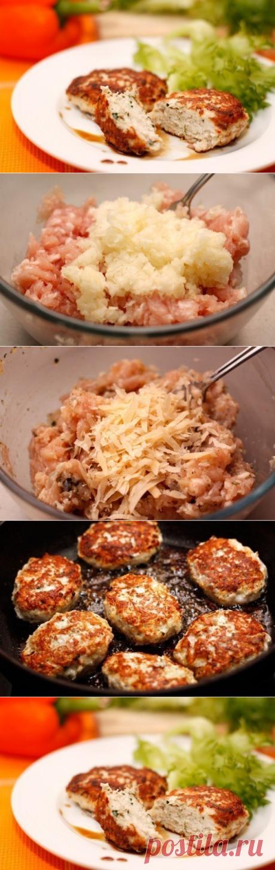 Как приготовить рецепт сочных и вкусных куриных котлет - рецепт, ингридиенты и фотографии