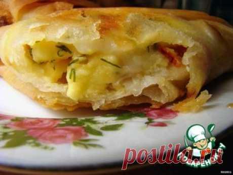 Лаваш с копчeным сыром - кулинарный рецепт