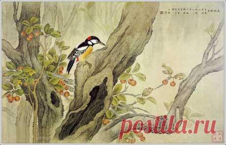 Чжоу Zhongyao птицы Картина 1