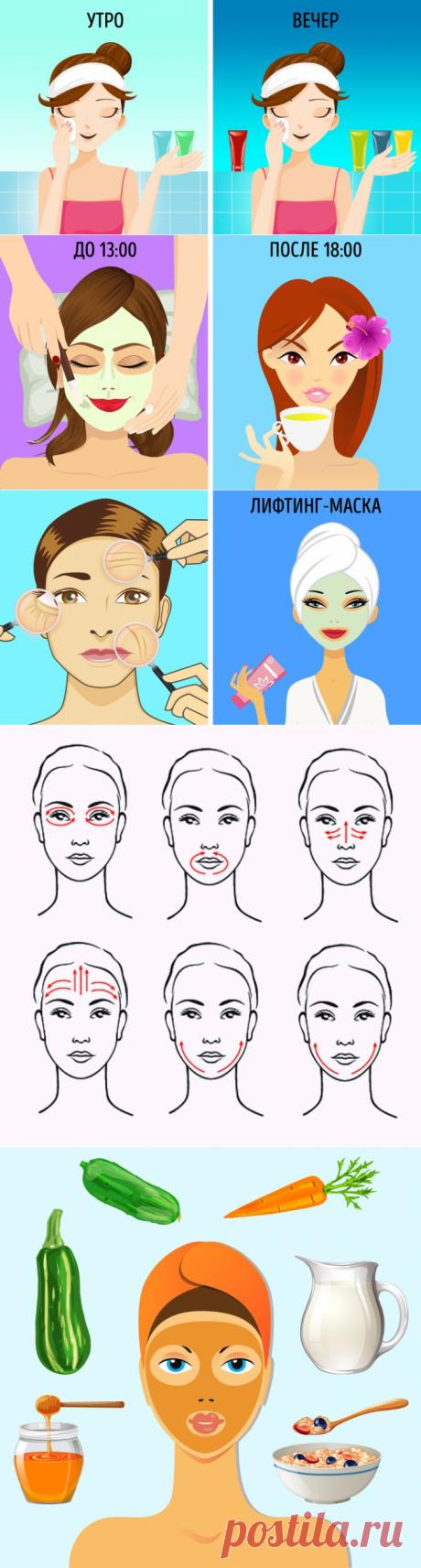 Еженедельный график ухода за кожей лица