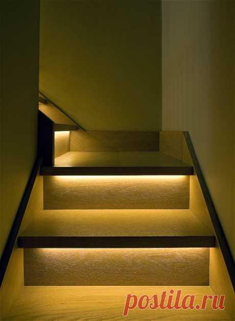 Автоматическая светодиодная подсветка лестницы - Домашний Очаг