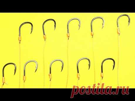 Как привязать крючок к леске | рыболовные узлы для рыбалки | как привязать крючок с лопаткой - YouTube