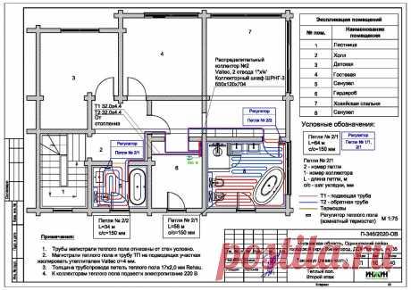 Проект отопления частного дома, пример 1415
