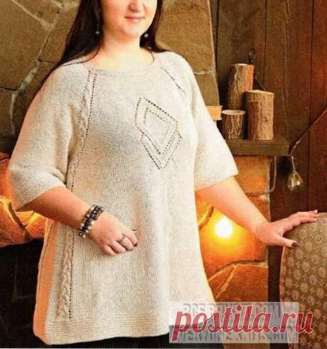 Модели plus-size для солидных дам спицами и крючком. | Все вяжут.соm/Everyone knits.com | Яндекс Дзен