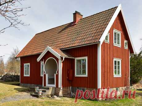 Умели строить! Компактный, экономичный, маленький шведский дом с печью и камином. Пример обустройства спальных мест на втором | АРТбук Ульяновой | Яндекс Дзен